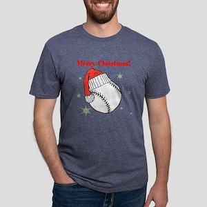 MerryChristmasBaseball Mens Tri-blend T-Shirt