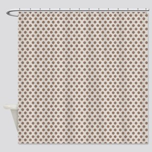 Brown Dots Shower Curtain