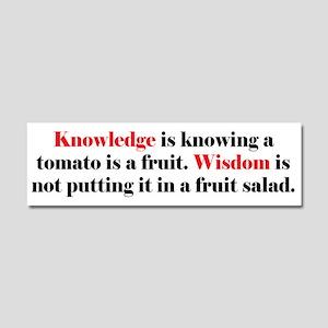 Tomato Knowledge Car Magnet 10 x 3