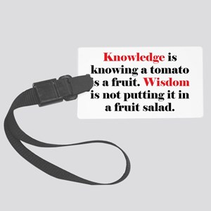Tomato Knowledge Large Luggage Tag