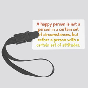 Happy Person Large Luggage Tag