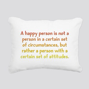Happy Person Rectangular Canvas Pillow