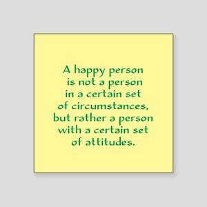 """Happy Person Square Sticker 3"""" x 3"""""""