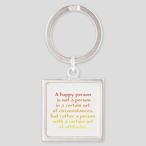Happy Person Square Keychain