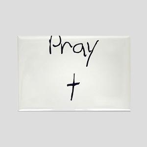 pray Rectangle Magnet