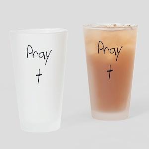 pray Drinking Glass