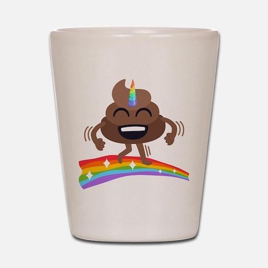 Emoji Poop Poonicorn Shot Glass