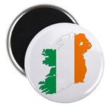 Map Of Ireland w/Flag Colors Magnet