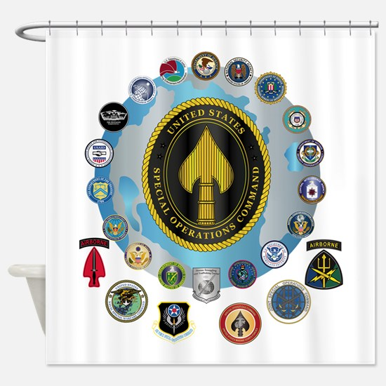 USSOCOM - SFA Shower Curtain