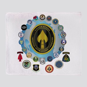 USSOCOM - SFA Throw Blanket