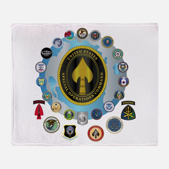 USSOCOM - SFA Throw Blanket
