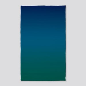 Blue Teal Tone 3'x5' Area Rug