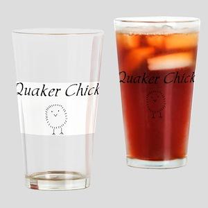 quaker chick Drinking Glass