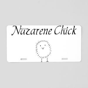 nazarene chick Aluminum License Plate