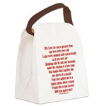 Love Story Canvas Lunch Bag