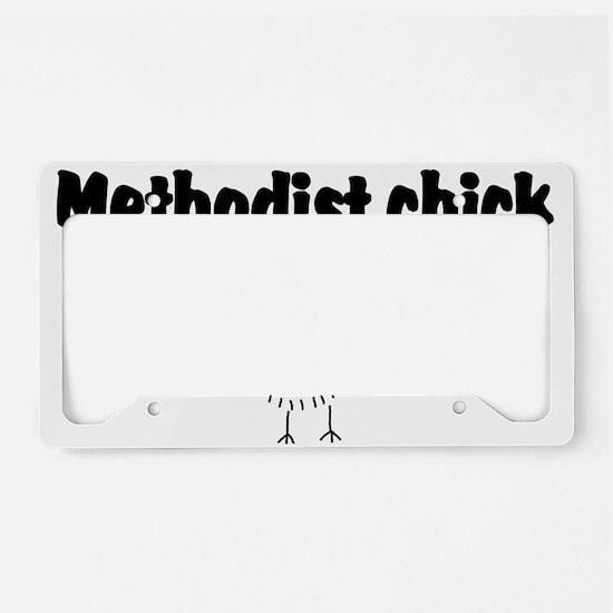 methodist chick.png License Plate Holder