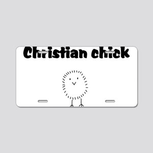 christianchick Aluminum License Plate