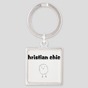christianchick Square Keychain