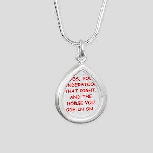 RIDE Silver Teardrop Necklace