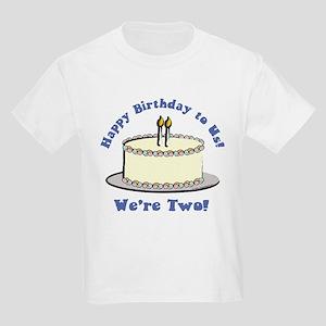 Happy Birthday!  We're 2! Kids T-Shirt