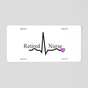Retired Nurse QRS Aluminum License Plate