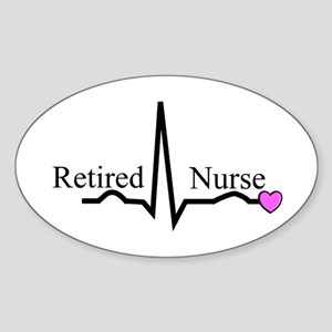 Retired Nurse QRS Sticker