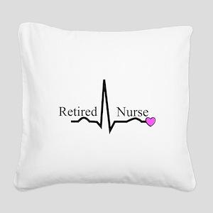 Retired Nurse QRS Square Canvas Pillow