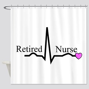 Retired Nurse QRS Shower Curtain