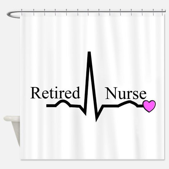 Retired Nurse QRS Shower Curtain