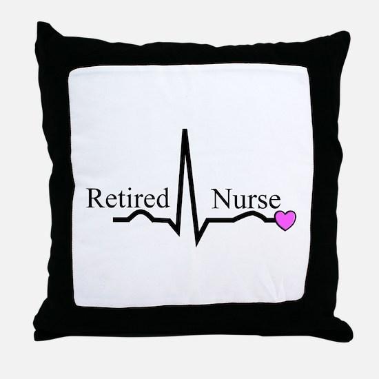 Retired Nurse QRS Throw Pillow