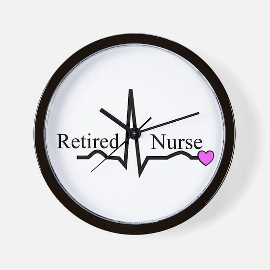 Retired Nurse QRS Wall Clock