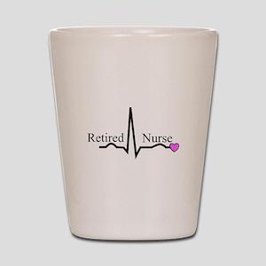 Retired Nurse QRS Shot Glass
