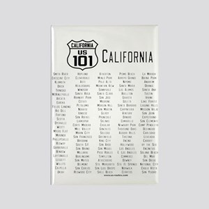 US Route 101 - California Magnet with cities