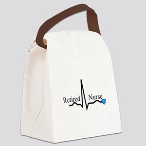 Retired nurse QRS blue Canvas Lunch Bag