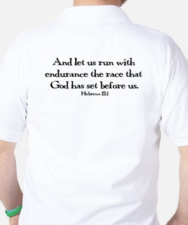 run hebrews.png Golf Shirt