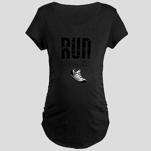 run hebrews Maternity T-Shirt