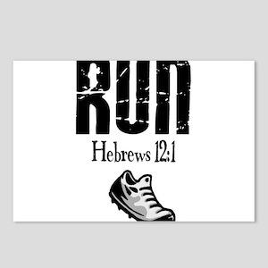run hebrews Postcards (Package of 8)