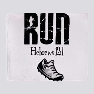 run hebrews Throw Blanket