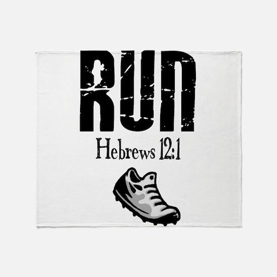 run hebrews.png Throw Blanket