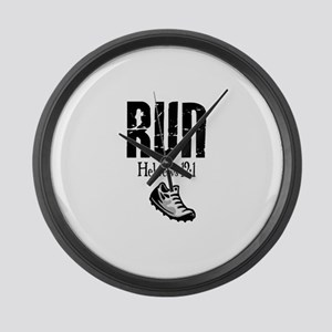 run hebrews Large Wall Clock