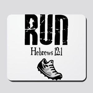 run hebrews Mousepad