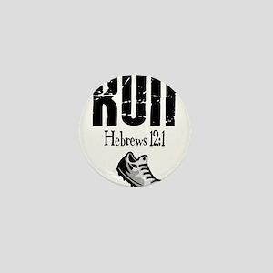 run hebrews Mini Button
