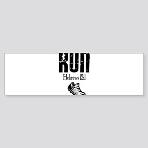 run hebrews Bumper Sticker