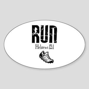 run hebrews Sticker