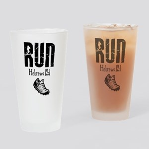 run hebrews Drinking Glass