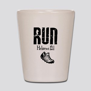 run hebrews Shot Glass