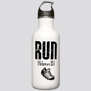 run hebrews Water Bottle