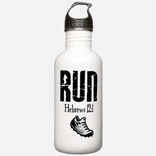 run hebrews.png Water Bottle
