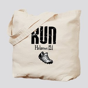 run hebrews Tote Bag