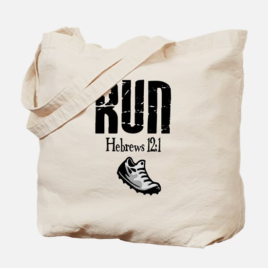 run hebrews.png Tote Bag